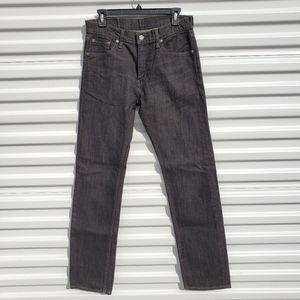 Levi's 513 Slim Straight fit like new black wash